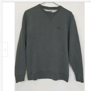 Stussy Authentic Mens Gray Crewneck Sweater size M